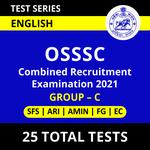 OSSSC Combined Recruitment Examination 2021 Online Test Series