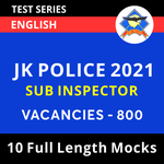 JK Police Sub Inspector 2021 Online Test Series