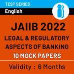 JAIIB Paper III (LRB) 2022 Online Mock Test Series (1200+ Questions)