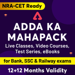 ADDA ka Mahapack (BANK | SSC | Railways Exams) (Validity 12 + 12 Months)