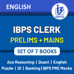 Latest IBPS Clerk 2021 Books Kit for (Prelims + Mains) in English Printed Edition