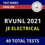 Rajasthan Rajya Vidyut Utpadan Nigam Limited JE Electrical 2021 Online Test Series