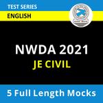 National Water Development Agency JE Civil 2021 Online Test Series