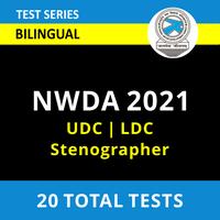 Mock Tests For NWDA - LDC | UDC Stenographer 2021_70.1