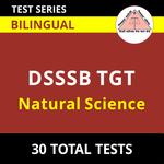 DSSSB TGT Natural Science 2021 Online Test Series