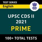 UPSC CDS II 2021 Prime Online Test Series