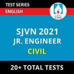 SJVN Civil Junior Field Engineer 2021 Online Test Series