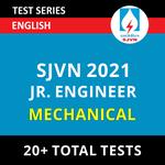 SJVN Mechanical Junior Field Engineer 2021 Online Test Series