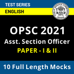 OPSC Assistant Section Officer 2021 Online Test Series