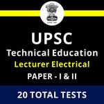 UPPSC Technical Education Lecturer Electrical Engineering Paper-I & II 2021 Online Test Series