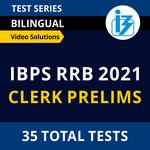 IBPS RRB Clerk Prelims 2021 Online Test Series