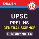 UPSC Prelims General Science E-Study Notes 2021 (English Medium eBooks)