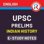 UPSC Prelims Indian History E-Study Notes 2021 (English Medium eBooks)