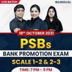 PSBs BANK PROMOTION EXAM | SCALE 1-2 & 2-3 | Complete Bilingual | Live Classes By Adda247